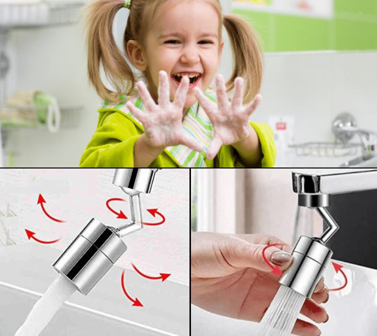 Rubinetto Girevole filtro adatto per i bambini: promozione attiva 2×1